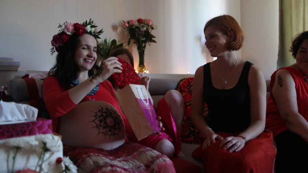 Ja  i moja doula podczas Ceremonii Błogosławieństwa Matki